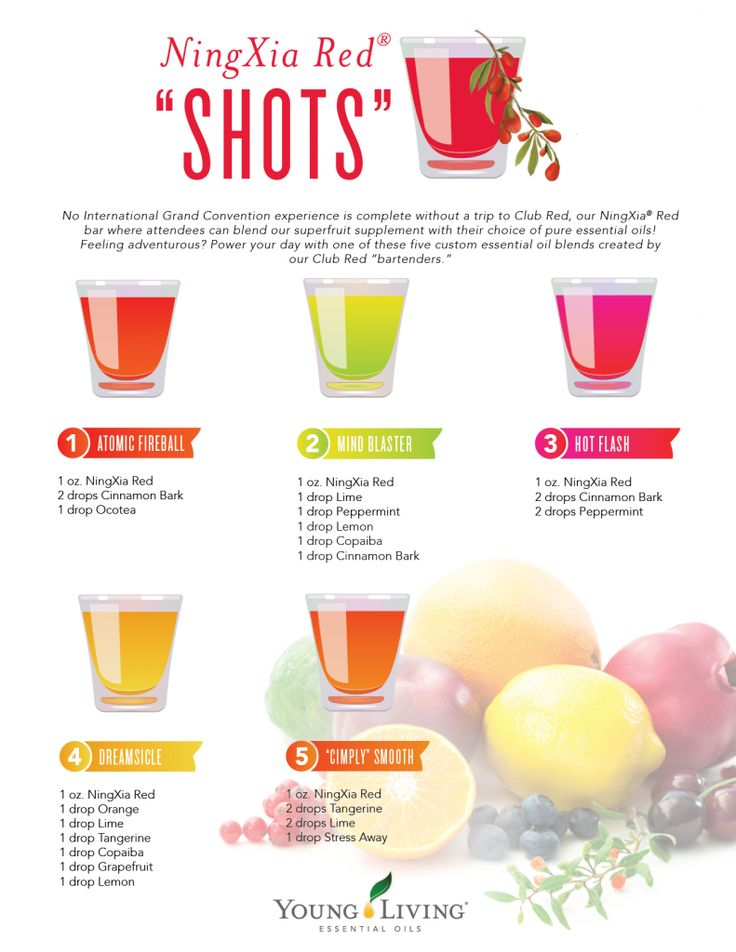 """Power your day with one of these five custom essential oil blends created by our Club Red """"bartenders."""""""