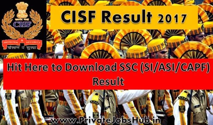 Candidates who've appeared for Central Industrial Security Force Recruitment examinations can check CISF Result through this page, as here we are providing you few steps by following them you can get your result.