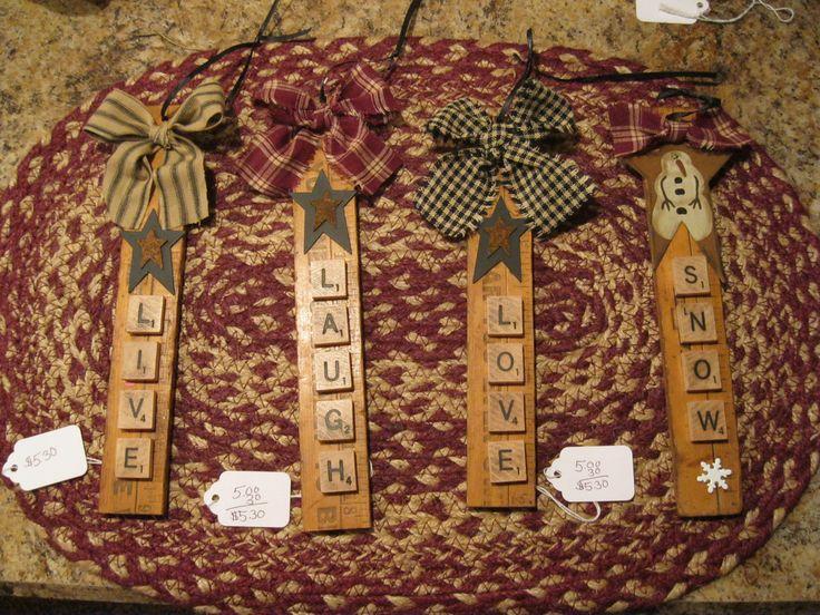 Scrabble ornaments - just photo, no directions