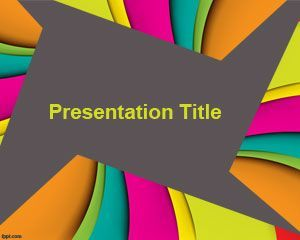 Color Slides PowerPoint Template - for people who like it colorful. Perfect to attract attention of kids and students