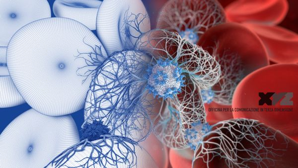 3D Medical Illustration of Virus infects RBCs