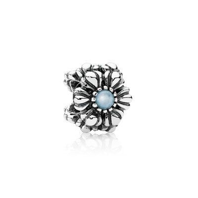 PANDORA | Birthday blooms, march, aquamarine