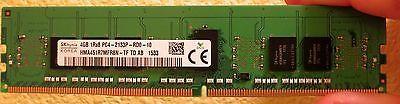 Hynix 4 GB DIMM 2133 MHz PC4-17000 DDR 4 ECC SDRAM Memory HMA451R7MFR8N-TF