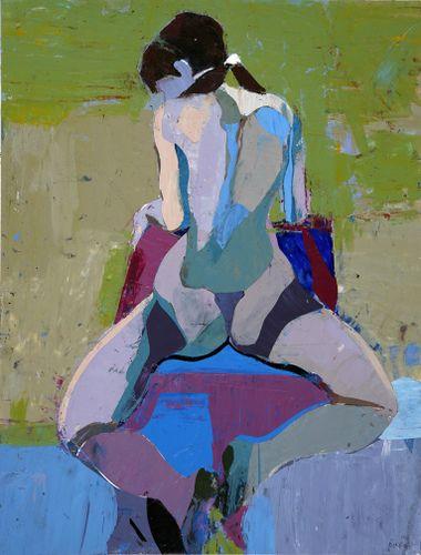Akt. KIM FROHSIN. #woman #akt #malerei #kunst #abstractpainting