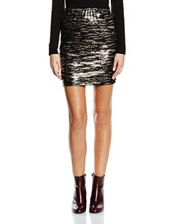 Vila Womens Short Sparkly Skirt With Elasticated Waist