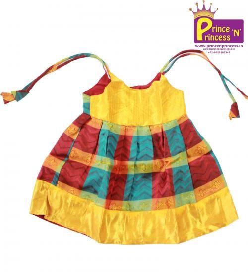 Cute new born silk frock .. Traditional pattu pavadai .. langa .. BUY .. @.. www.princenprincess.in