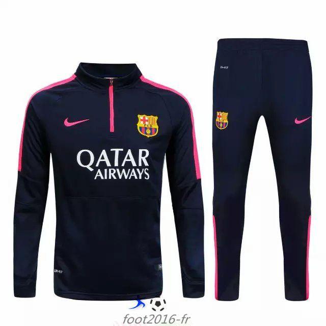 boutique Nouveau survetement equipe de foot FC Barcelone Black 2015 2016 pas cheres vintage