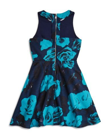 Miss Behave Girls' Betty Floral T Back Dress - Sizes 8-16