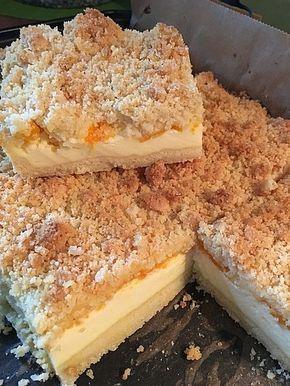 Streuselkuchen Mit Mandarinen Und Schmand Pudding Kuchen Kuchen