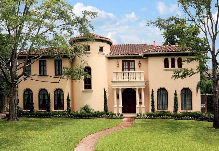 Magnificent River Oaks Mediterranean 4 5 Bedroom Residence