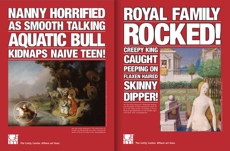 The Getty Center in Los Angeles. How to sell art to the artless. | The Smartest, Funniest, Most Informative Museum Ads