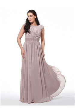 Scoop All Sizes Fall Zipper-up Winter Evening Gray Floor-Length Dress