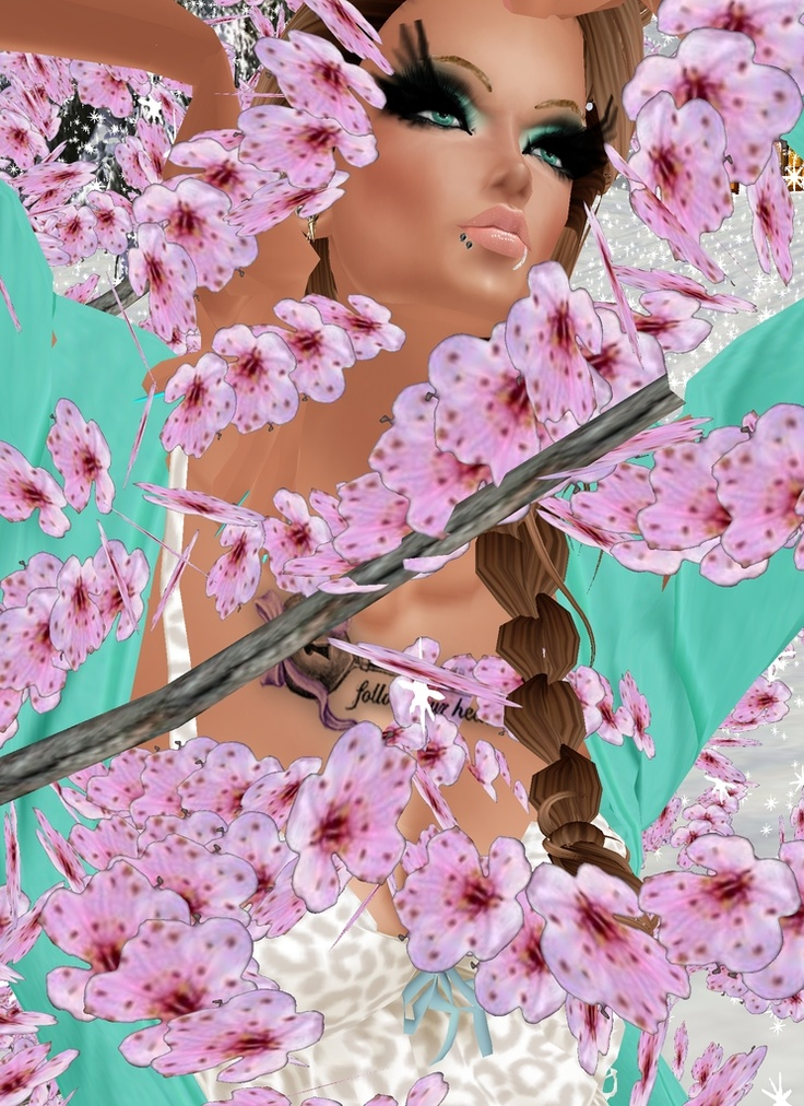 """""""Blossoming Beauty"""" Captured Inside IMVU - Join the Fun!"""