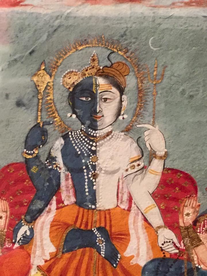 Harihara (Vishnu and Shiva) rajasthani painting