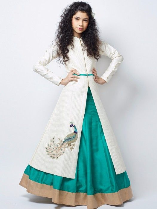 Shop G3 Exclusive aqua green silk party wear lehenga choli online from G3fashion India. Brand - G3, Product code - G3-GCS0288, Price - 6695, Color - Green, Fabric - Silk,