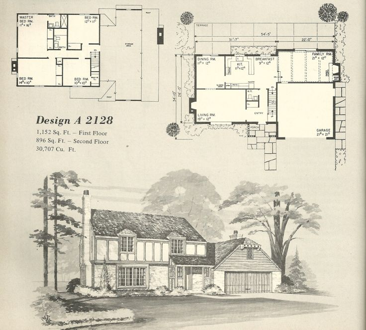 Vintage house plans 1970s homes tudor style home plan for Classic tudor house plans