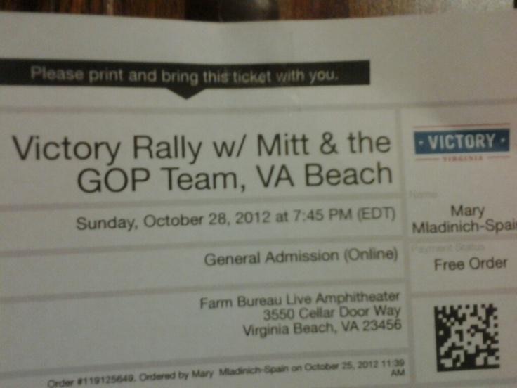 I'm ready to go see Mitt!