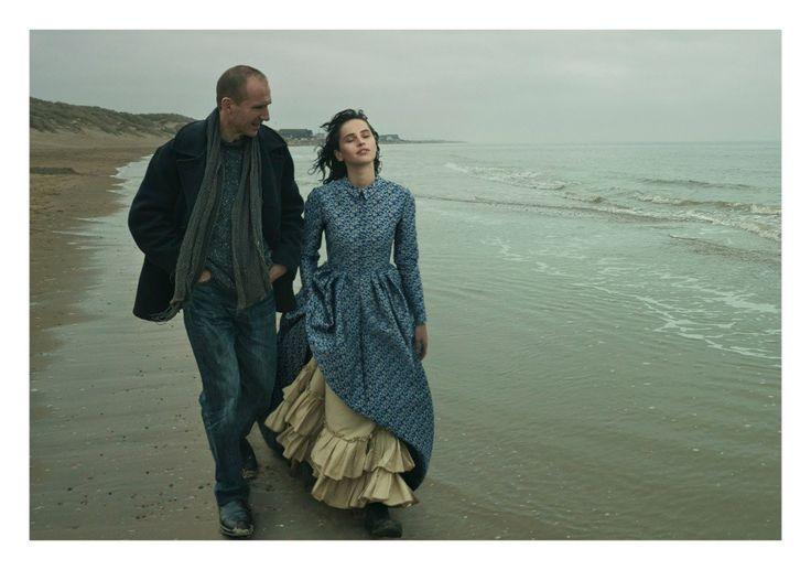 Felicity Jones and Ralph Fiennes, photographed by Annie Leibovitz for Vogue, Jan 2014.