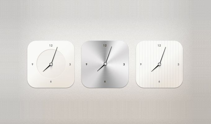 Modern Clock Widget - 365psd
