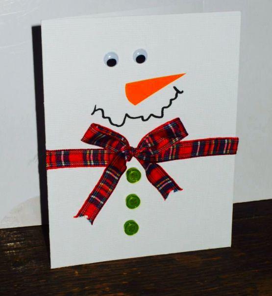 17 mejores ideas sobre mu eco de nieve de navidad en - Tarjeta de navidad manualidades ...