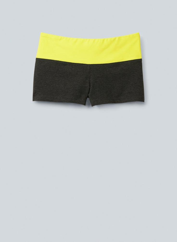 TNA Solstice Shorts, $25 at Aritzia.com. #neon