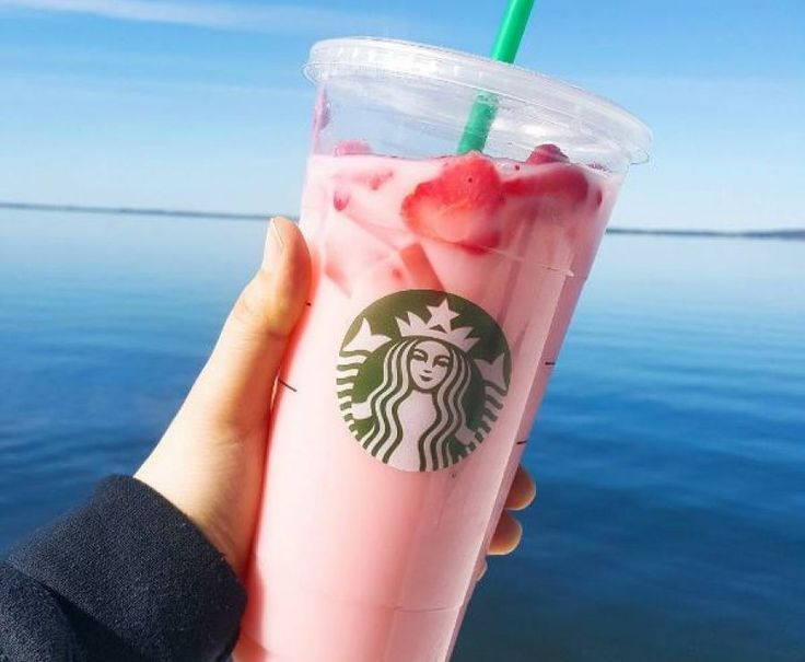 Pink Drink Joins Starbucks Beverage Menu  Starbucks Pink Drink is a light and refreshing beverage that features the sweet flavors of Strawberry Acai Refreshers® with accents of passion fruit and acai combined with Coconutmilk, and topped with a scoop of strawberries.