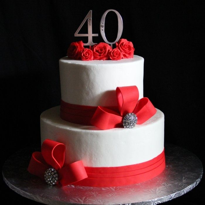 Cake Decorating Ideas For Ruby Wedding : Best 25+ 40th anniversary cakes ideas on Pinterest DIY ...