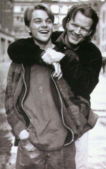 """The Basketball Diaries"" (1995) - behind the scenes >> Leonardo DiCaprio & Jim Carroll"