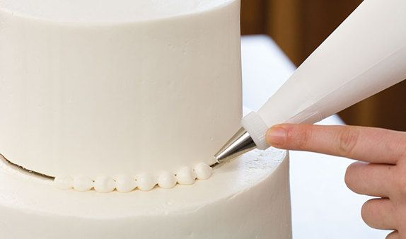 how to pipe a pearl border or snail trail from America's Test Kitchen