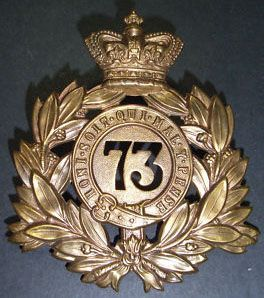 Pre WW1 British Army 73rd Black Watch Regiment Gilding Metal Badge. Last Shako Helmet Plate