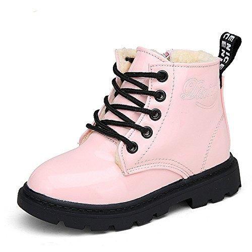 10222f75 Comprar Ofertas de Botas para Niñas Niños Cordón Anti Deslizante 1-12 Años  (Tamaño 21=Longitud de los pies:11cm, rosado:con algodón) barato.
