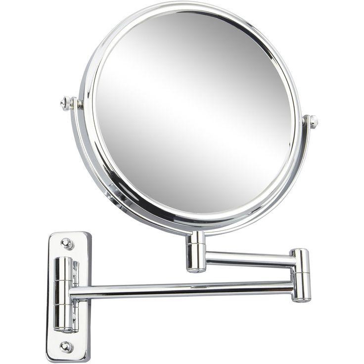 Miroir grossissant x 10 rond à fixer (perçage), H.20 x l.20 x P.3.5cm, Constance | Leroy Merlin