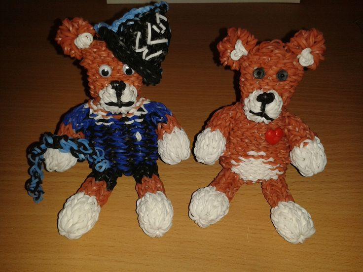 Teddys - Links 760 +Hut&Schal 939 Looms - Rechts 738 Looms