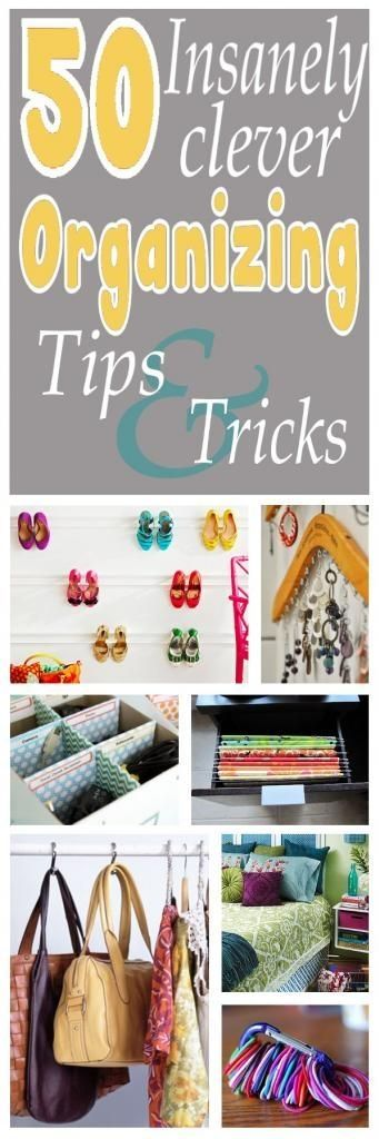 50 Insanely Clever Organizing Ideas! For the craft room or anything else!