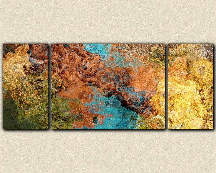 very large triptych art stretched canvas print by