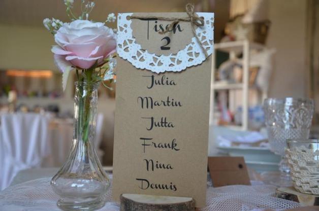 Weiteres - Tischplan Tischzahl Hochzeit Vintage - ein Designerstück von majalino bei DaWanda