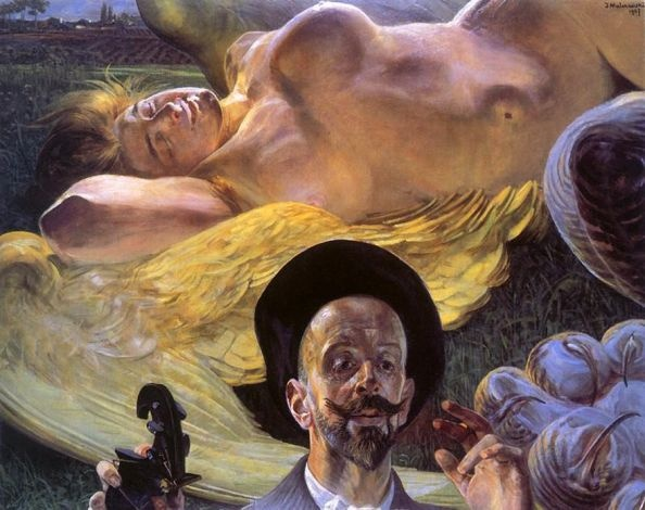 Moment of Creation: Harpy in a Dream, Jacek Malczewski 1907