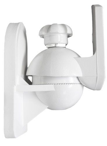 Pure Resonance Audio MC5B-W Mini Cube Speaker Wall Bracket White Designed for Small Speakers - PRICED AND SOLD IN PAIRS by Pure Resonance Audio. $19.99. The Pure Resonance Audio MC5B-W speaker wall mount bracket is designed for use with home theater & surround sound satellite speakers weighting up to 8 lbs and is only 3 in. deep. The speaker mount rotates left and right 90° and tilts up and down 20°. Will work with all satellite type speakers. All bolts and mounting screws included.