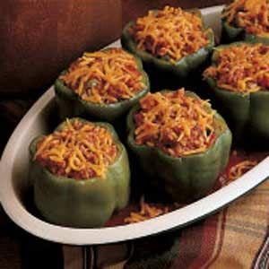 Meat Loaf-Stuffed Peppers Recipe