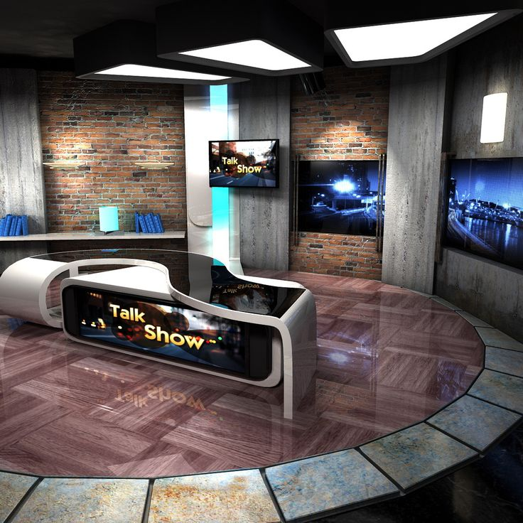 maya virtual set talkshows studio | Virtual Sets | Tv set ...