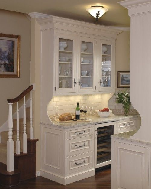 10 Steps Trimming Kitchen Peninsulas With Beadboard: Bar Or Butler Pantry Near Steps...