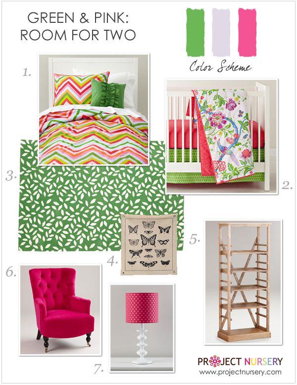 Hot Pink & Green #nursery #toddlerroom