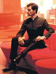 A slick black Nehru Suit :) ---- #indian #groom #wedding