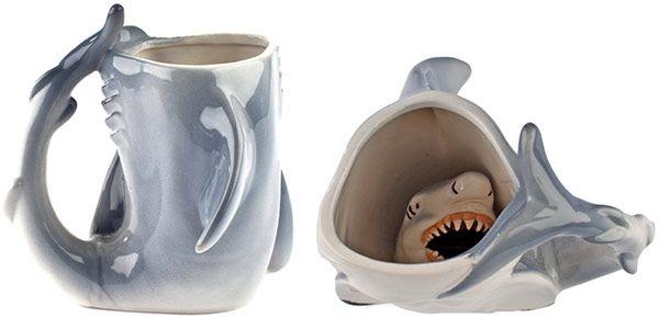 Shark Week Shark Drink Mug- I think I'll get this for my boyfriend in celebration of Shark Week.