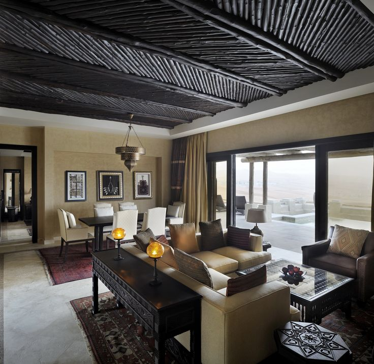 Desert Living Room Design In Our Villas At Qasr Al Sarab Resort By