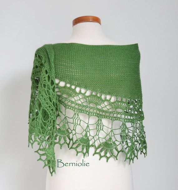 DIY Crochet Kit Crochet shawl kit Ilvy Sammy por BernioliesDesigns