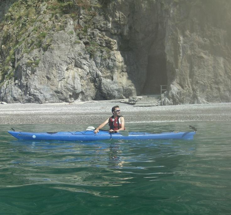 Kayaking at Duoglio Beach (Amalfi)