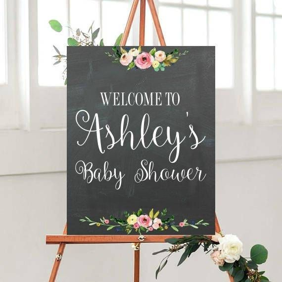 Baby Shower Decor Baby Shower Sign Printable Sign Welcome