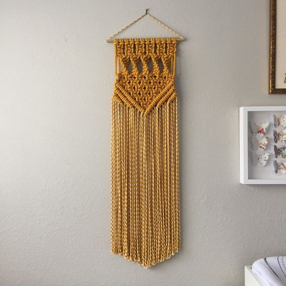 This is a digital download pattern for a Macrame Wall Hanging that I designed. It list the materials needed as well as all needed information to