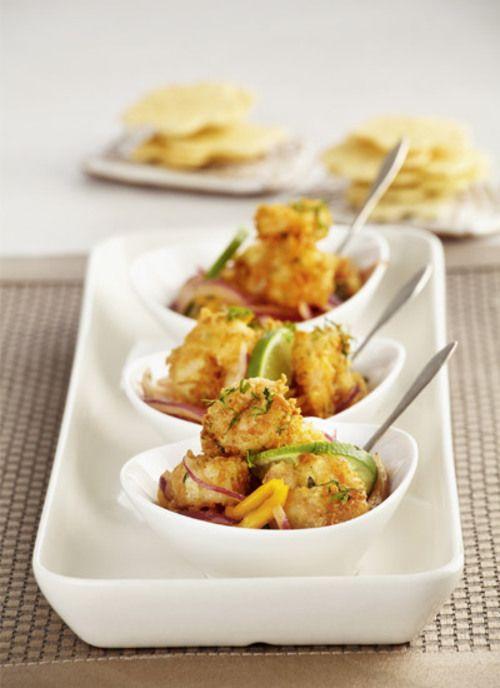 Añádale estilo a una cena con estos camarones crocantes.